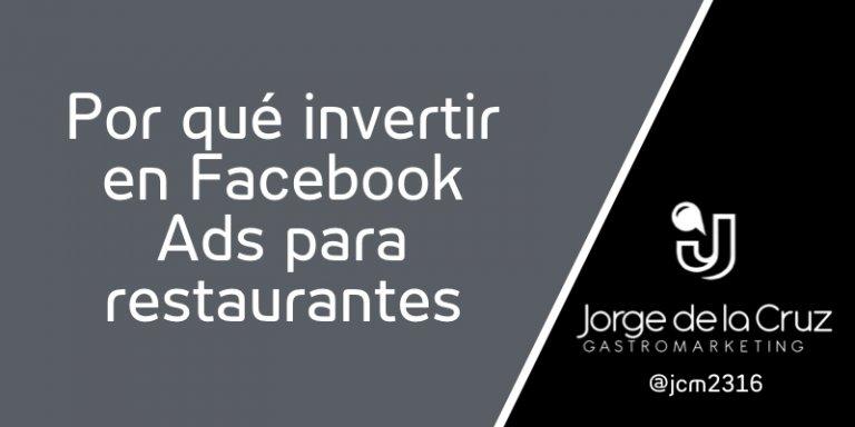 Facebook Ads para restaurantes