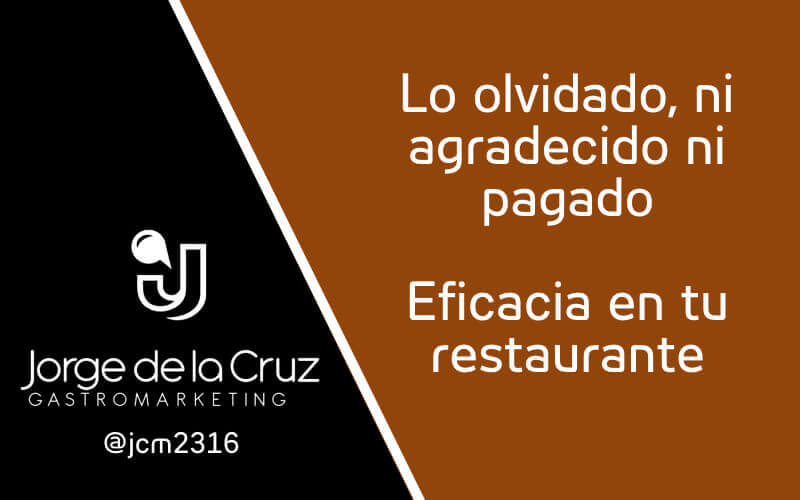 eficacia en restaurantes