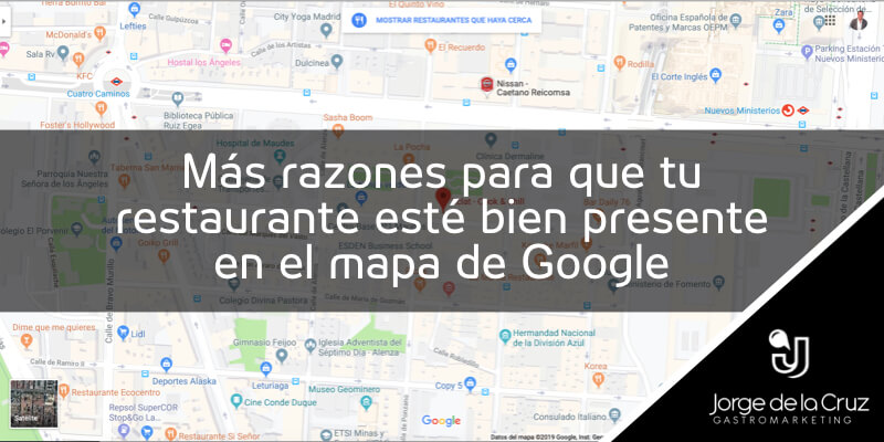 Google Maps para restaurantes